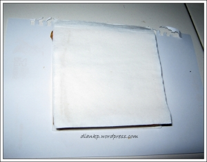 Tutupi dengan kertas tissue